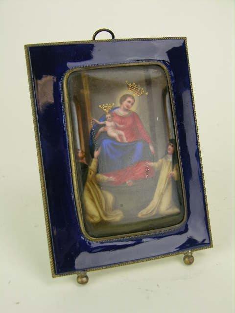 23: Continental porcelain plaque depicting the Madonna