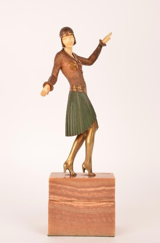 """77: D. H. Chiparus """"Egyptian Style Dancer""""."""
