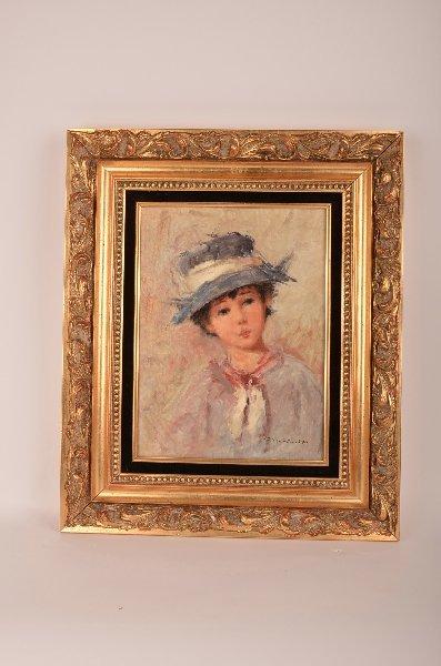 "7: De Benedictey, 20th century, ""Portrait of a girl"