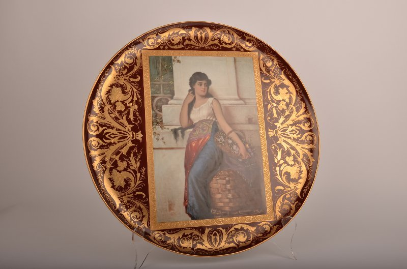 11: 19th century Royal Vienna porcelain charger