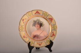 19th Century Royal Vienna Porcelain Portrait Plate