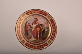 "14: Royal Vienna porcelain cabinet plate marked ""Hektor"