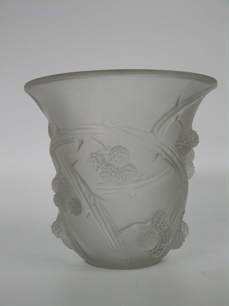 """23: A Rene Lalique circa 1930 """"Mures"""" vase."""