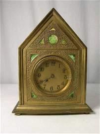 "4: Tiffany Furnaces ""Twisted Rope"" desk clock."