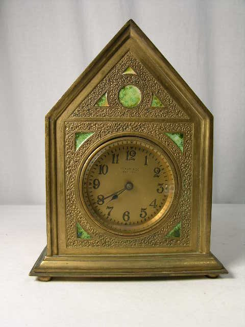 "4: Tiffany Furnaces ""Twisted Rope"" desk clock."
