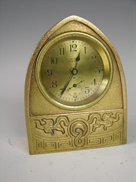 "9: TIFFANY STUDIOS ""CHINESE"" DESK CLOCK."