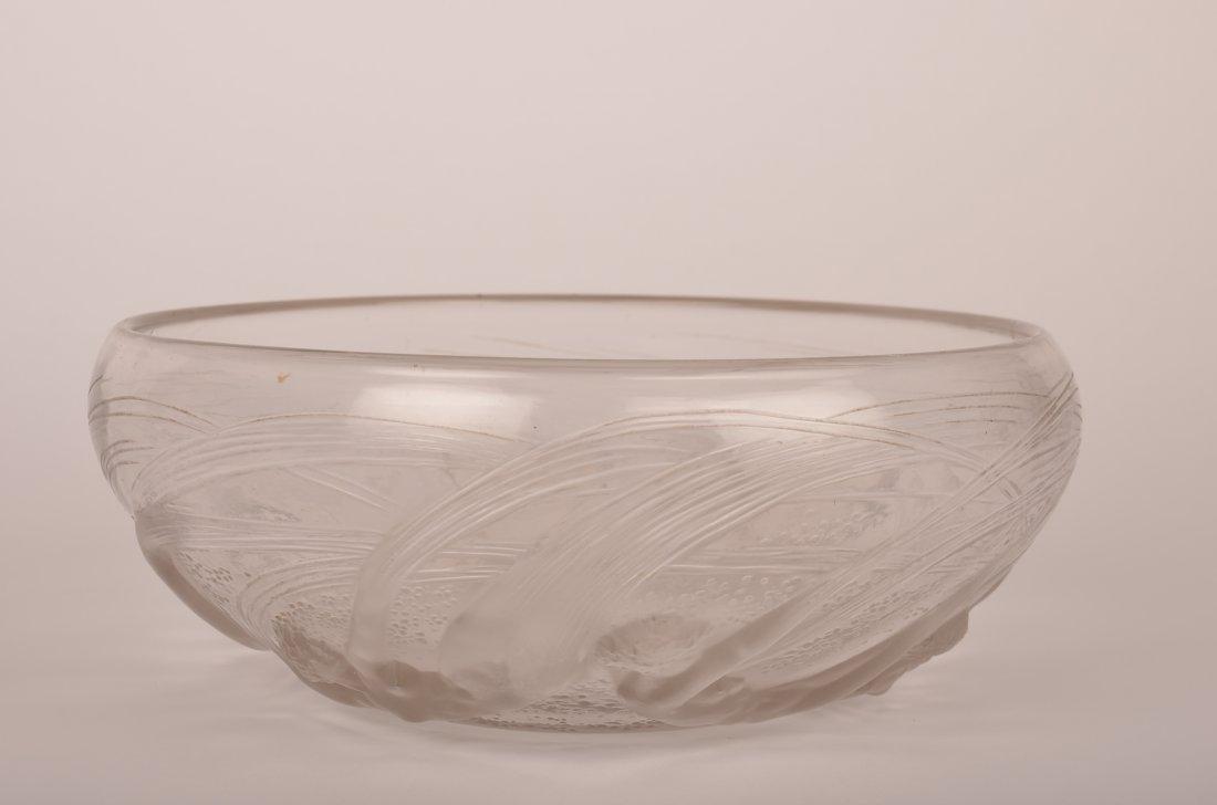 """20: Rene Lalique """"Ondines"""" bowl."""