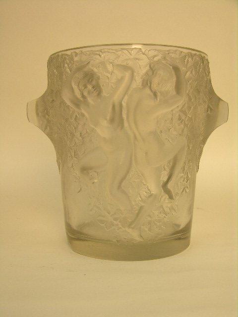 "22: Rene Lalique  crystal ""Ganymede"" champagne bucket."