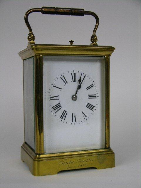 A quarter repeater carriage clock.