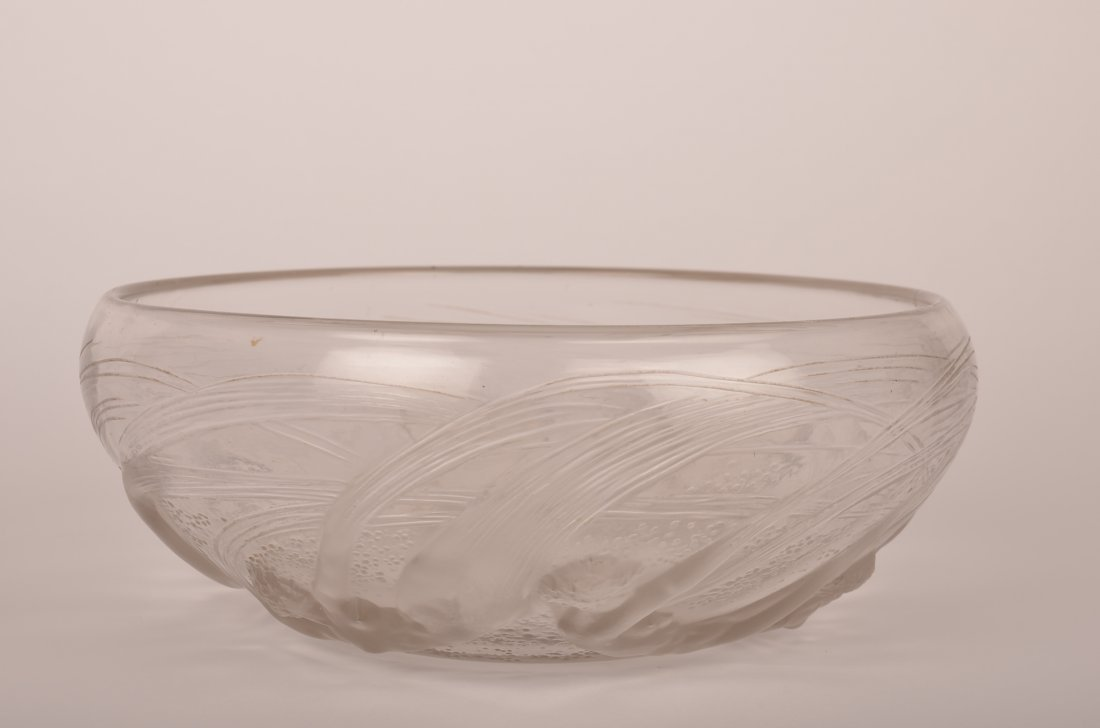 """Rene Lalique """"Ondines"""" bowl."""