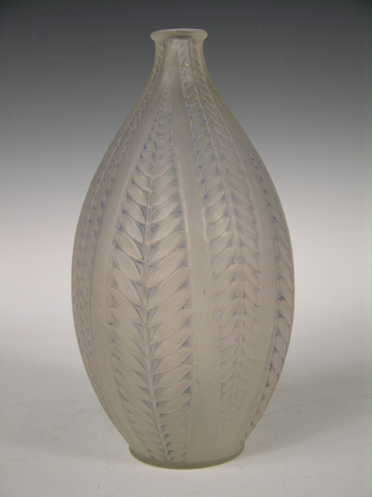 "A Rene Lalique ""Acadia"" vase."