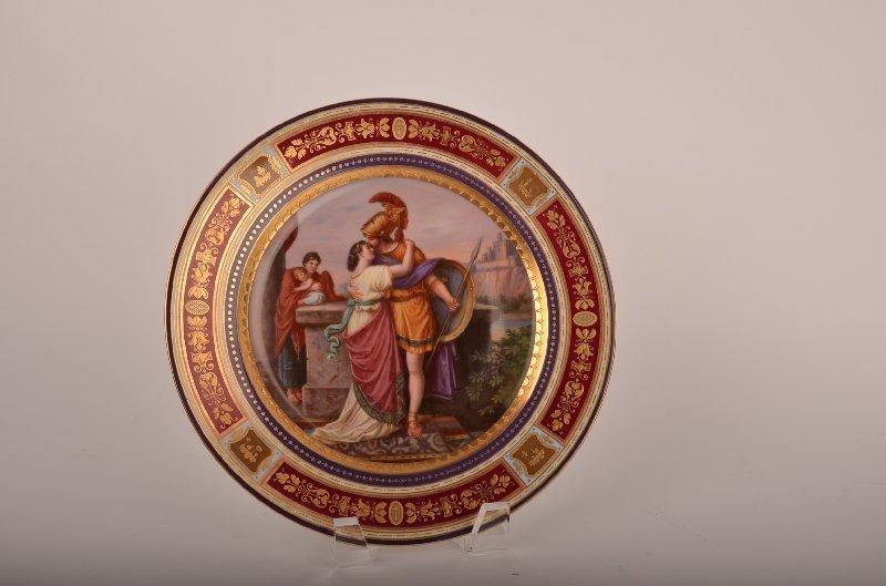 "Royal Vienna porcelain cabinet plate marked ""Hektors ab"