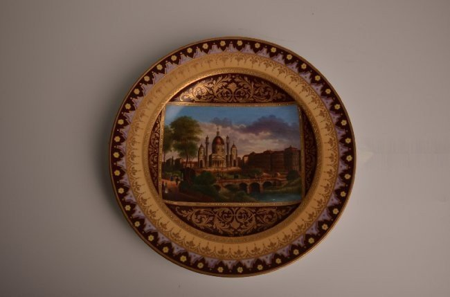 Late 18th Century Royal Vienna portrait dish.