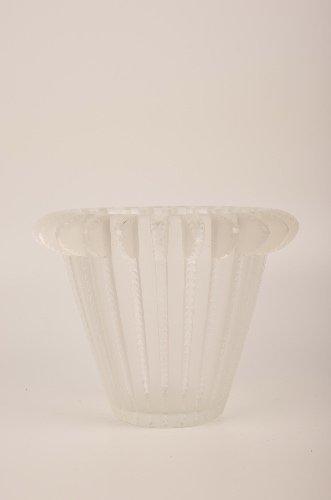 "Lalique France ""Royat"" vase."