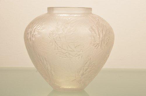 "R. Lalique vase, ""Esterel "" bulbous shape in frosted gl"