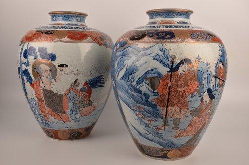 18th/19th Century ovoid shapped Chineses Imari vases.