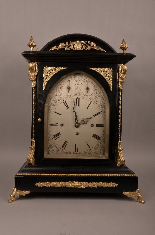 English Double Fusee 8 Bell Bracket Clock: fusee 3