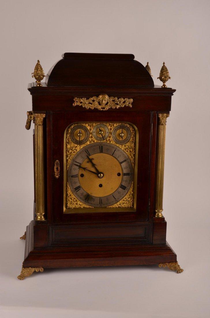 Westmeinster eight bell mahogony brackett clock.