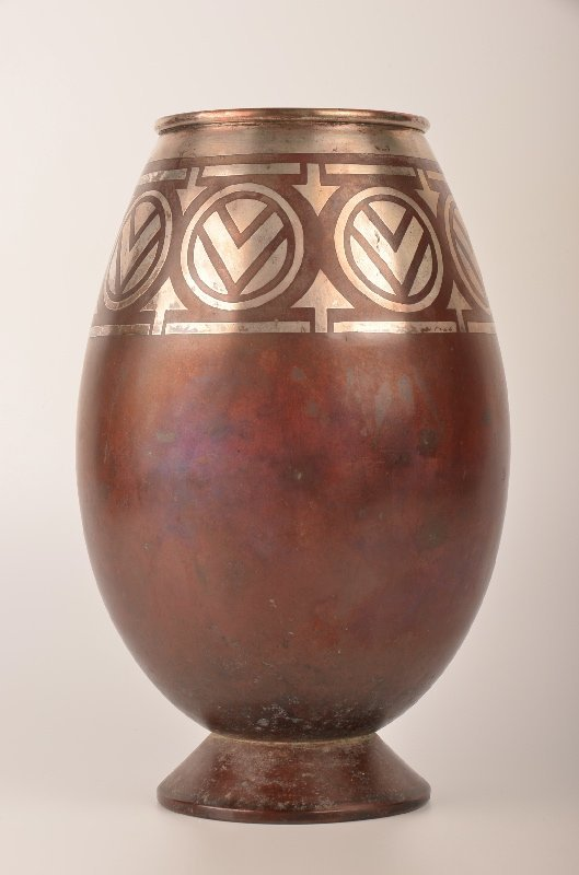 A Christofle French vase circa 1920. This vase with