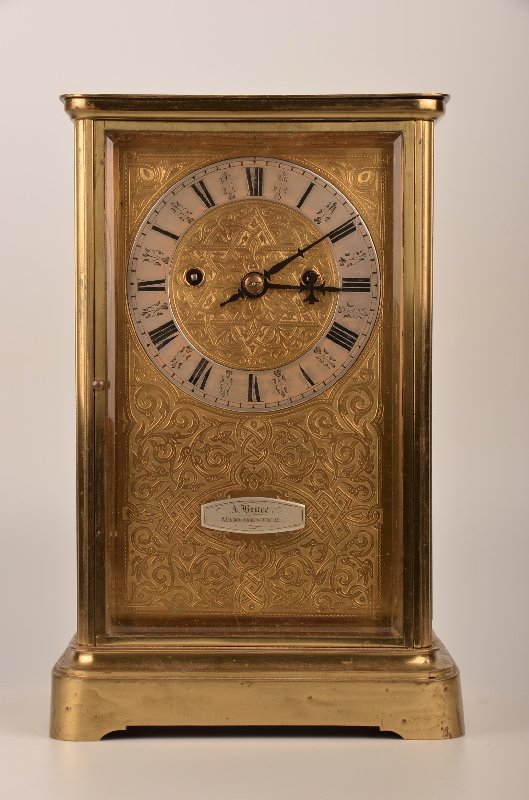English brass inlaid Louis XV style double fusee