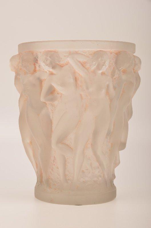 """R. Lalique """"Bacchantes"""" ice bucket."""