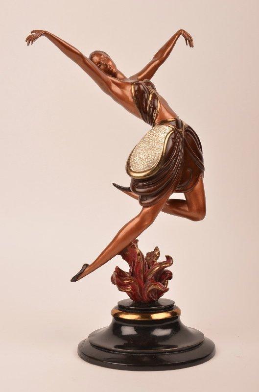 "Erte  (Russian: 1892-1990). ""La Danseuse"" bronze"