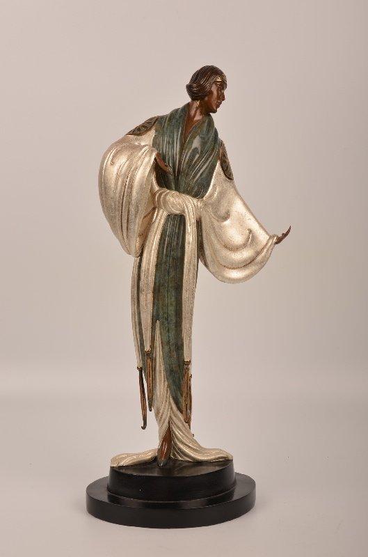 """Erte """"Belle de Nuite"""" bronze sculpture, no. 175/375,"""