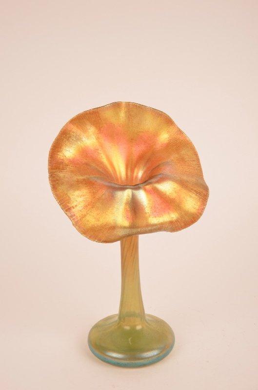 L.C. Tiffany gold Favile glass Jack in The Pulpit vase.