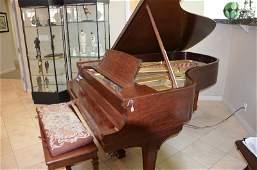 Circa 1917 Steinway Music Grand Model B 7 walnut finis