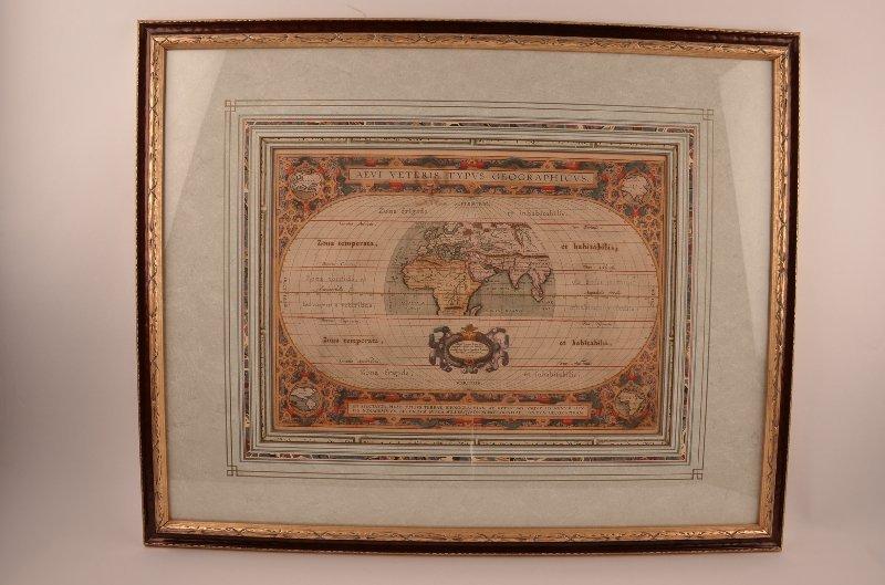"""Aevi Veteris, Typus Geographicus"""" Abraham Ortelius"""