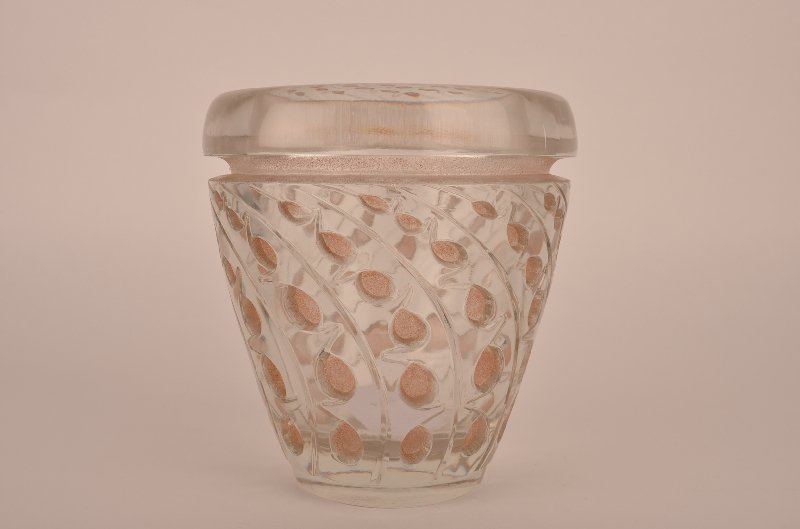 "Rene Lalique ""Lemna"" vase in polished clear and frosty"