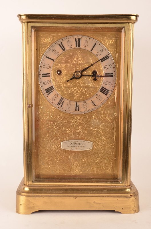 19 th Century English crystal regulator double fusee