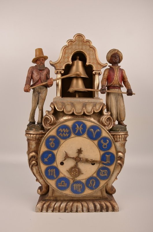 "Antique ""Blackamoor"" carved wooden clock."
