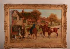 Heywood Hardy (British, 1852-1926) oil on canvas