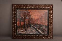 Circa 1880 old Paris oil on canvas painting.