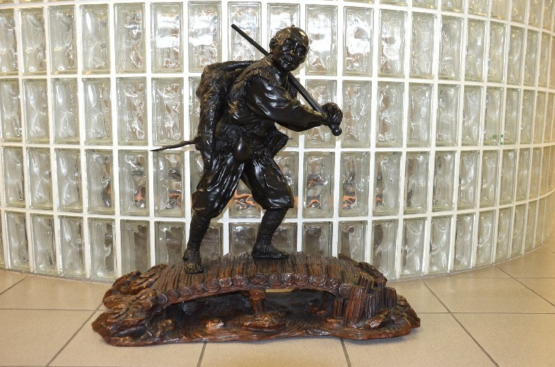 Japanese Meji Period-Tokyo school bronze figure of a