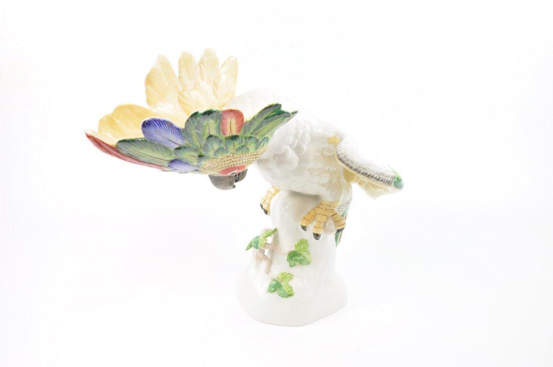 Porcelain figurine of a large Cockatoo