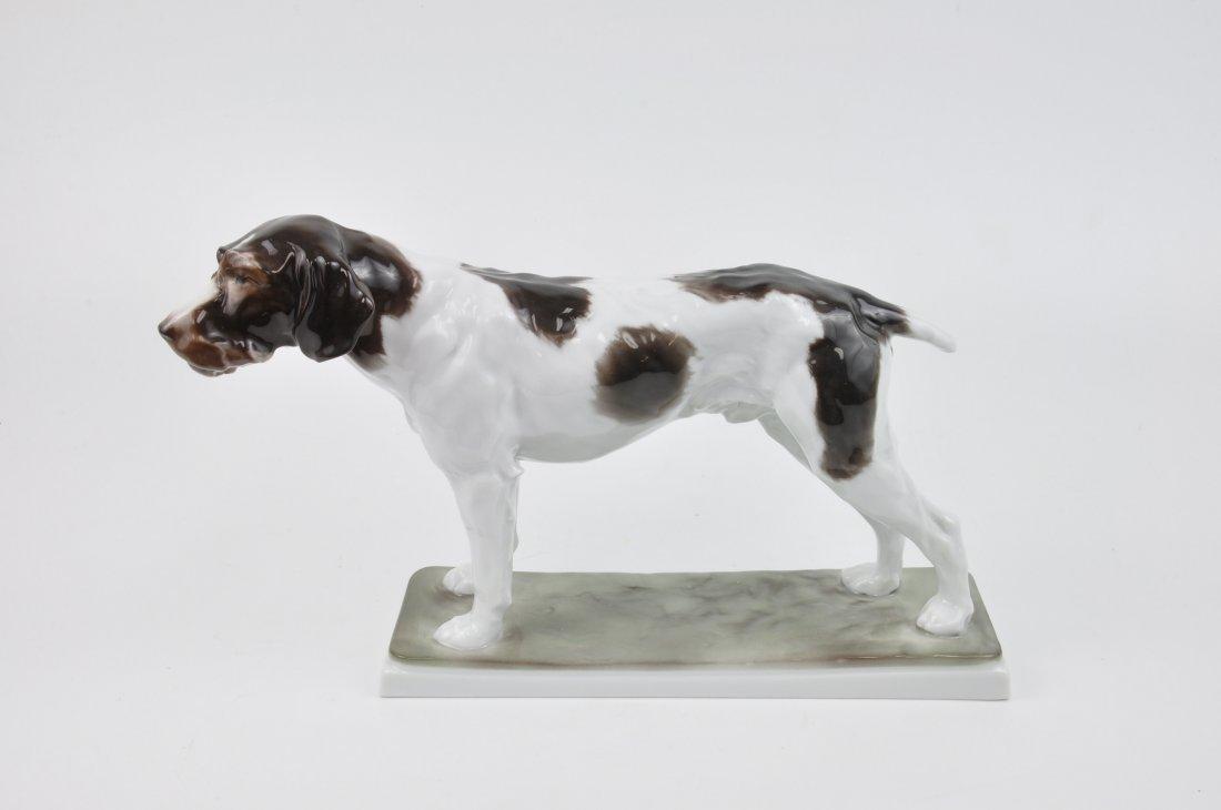 Rosenthal German porcelain figurine of  a pointer.