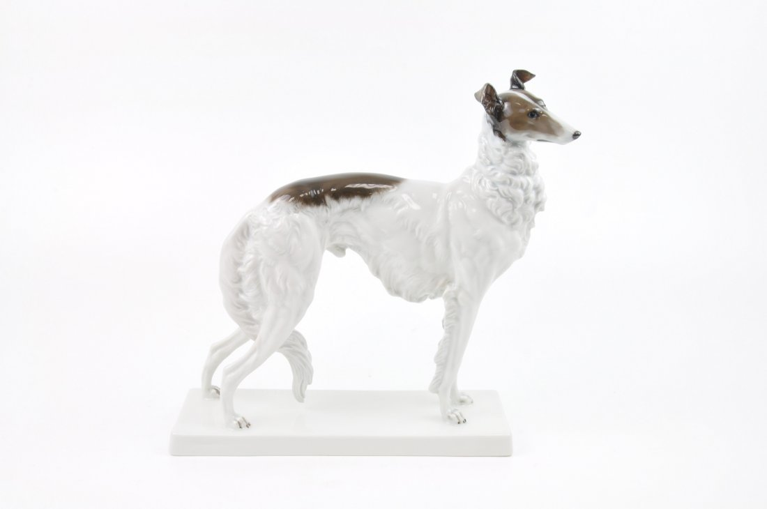Rosenthal German porcelain figurine of a Borzoi hound.