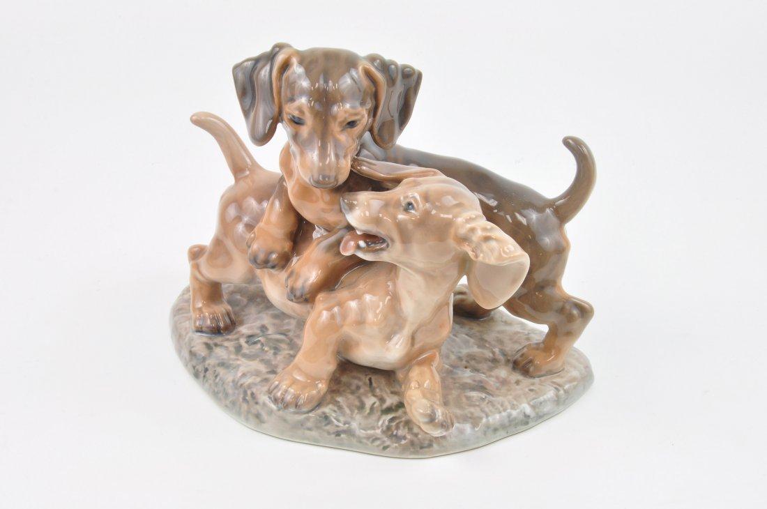 Dahl Jensen Denmark porcelain figurine of two puppies