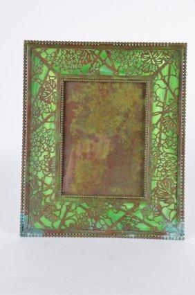 Tiffany Studios Photo Frame In Grapevine Pattern