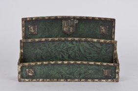 "Tiffany Green ""heraldic"" Paper Rack."