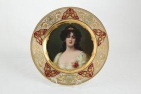 Royal Vienna Cabinet Plate Circa 1900.