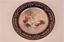 Royal Vienna cabinet plate with three ladies in a