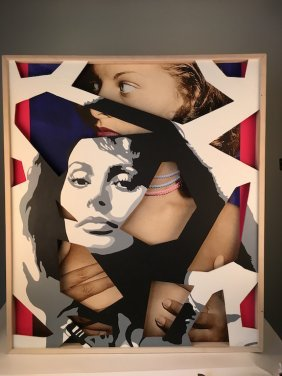 "Jim Ceravolo, American B. 1953, ""hidden Sophia"" Acrylic"