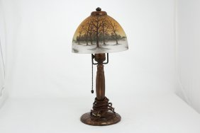 First Quarter 20 Th Century Handel Boudoir Table Lamp.