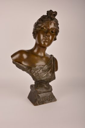 E. Villanis (french:1858-1914) Bronze Bust.
