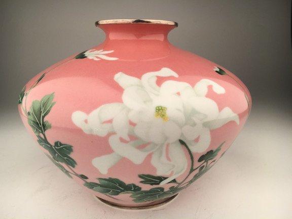 Japanese Kumeno Teitaro Cloisonne Enamel Trumpet Vase,