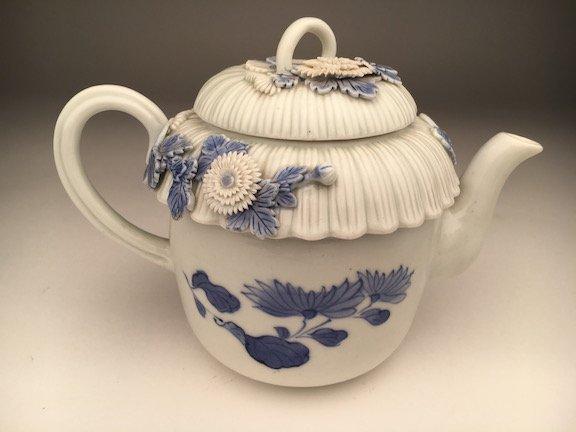 Circa 1900 Hirado Tea pot decorated with large flowers