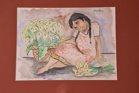 Diego Rivera, (Mexico, 1886-1957). Watercolor on paper.